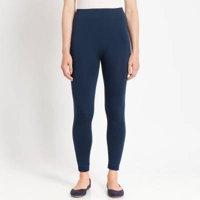 Denim Blue Popcorn Fleece Leggings