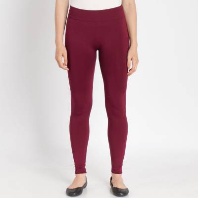 Wine Popcorn Fleece Leggings