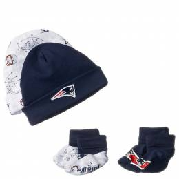 Gerber New England Patriots Baby Bib, Hat and Booties Set