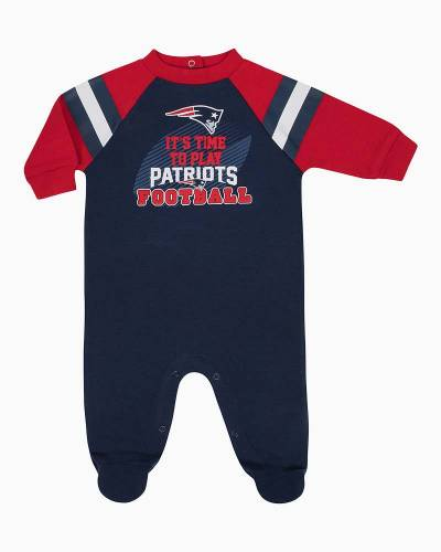 New England Patriots Baby Sleep and Play Coverall