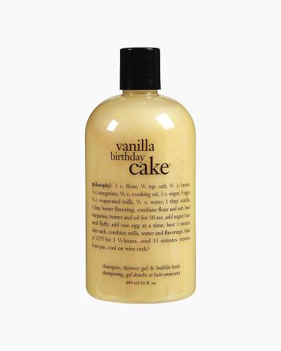 Vanilla Birthday Cupcake Shampoo, Shower Gel, and Bubble Bath