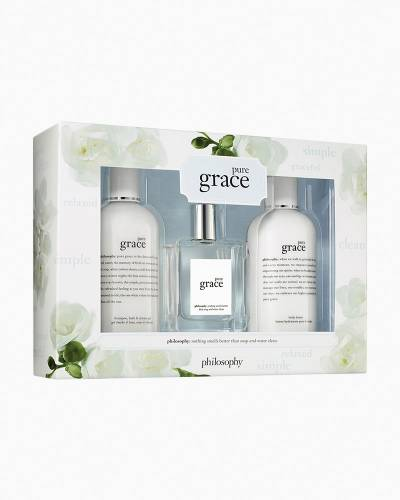 Pure Grace Three-Piece Bath and Body Gift Set