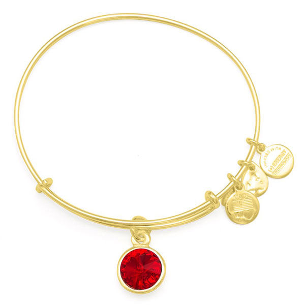 Alex and Ani January Birthstone Charm Bangle in Shiny Gold