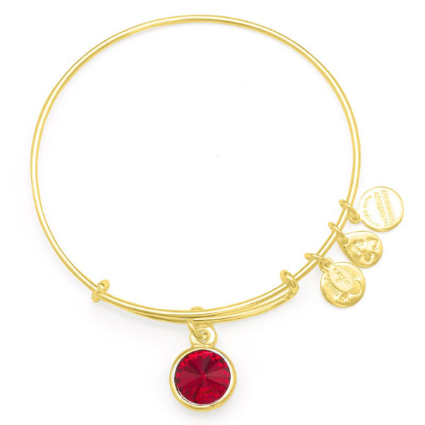 Alex and Ani July Birthstone Charm Bangle in Shiny Gold