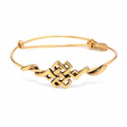 Alex and Ani Endless Knot Wrap Bracelet in 18k Gold Plated