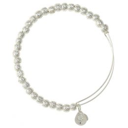 Alex and Ani Euphrates Beaded Bangle in Shiny Silver