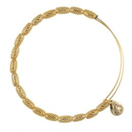 Alex and Ani Indus Beaded Bangle in Yellow Gold Finish