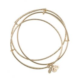 Alex and Ani Set of 3 Bangle Set (Yellow Gold)