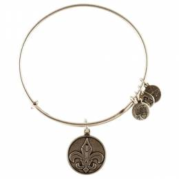 Alex and Ani Fleur De Lis Charm Bangle