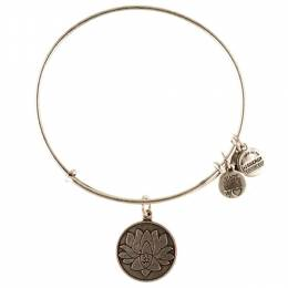 Alex and Ani Lotus Peace Petals Charm Bangle in Rafaelian Silver Finish