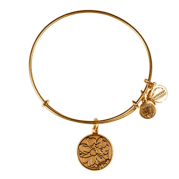 Alex and Ani Mom Charm Bangle in Rafaelian Gold Finish