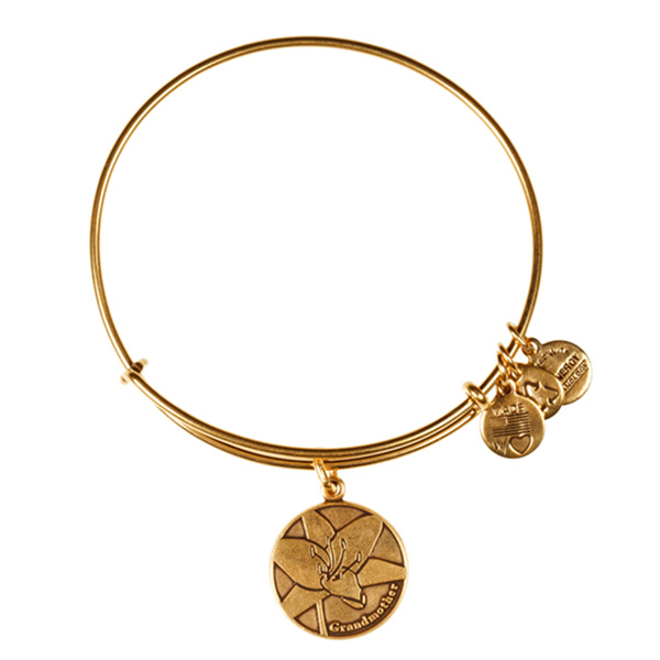 Alex and Ani Grandmother Charm Bangle in Rafaelian Gold Finish