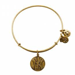 ALEX AND ANI New York Yankees Cap Logo Charm Bangle in Rafaelian Gold