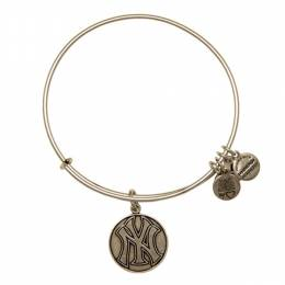 Alex and Ani New York Yankees Cap Logo Charm in Rafaelian Silver