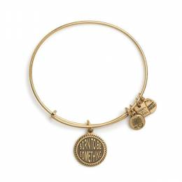 Alex and Ani Born To Be Something Charm Bangle in Rafaelian Gold Finish