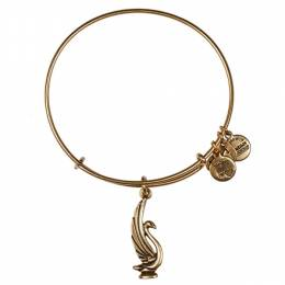 Alex and Ani Swan Charm Bangle