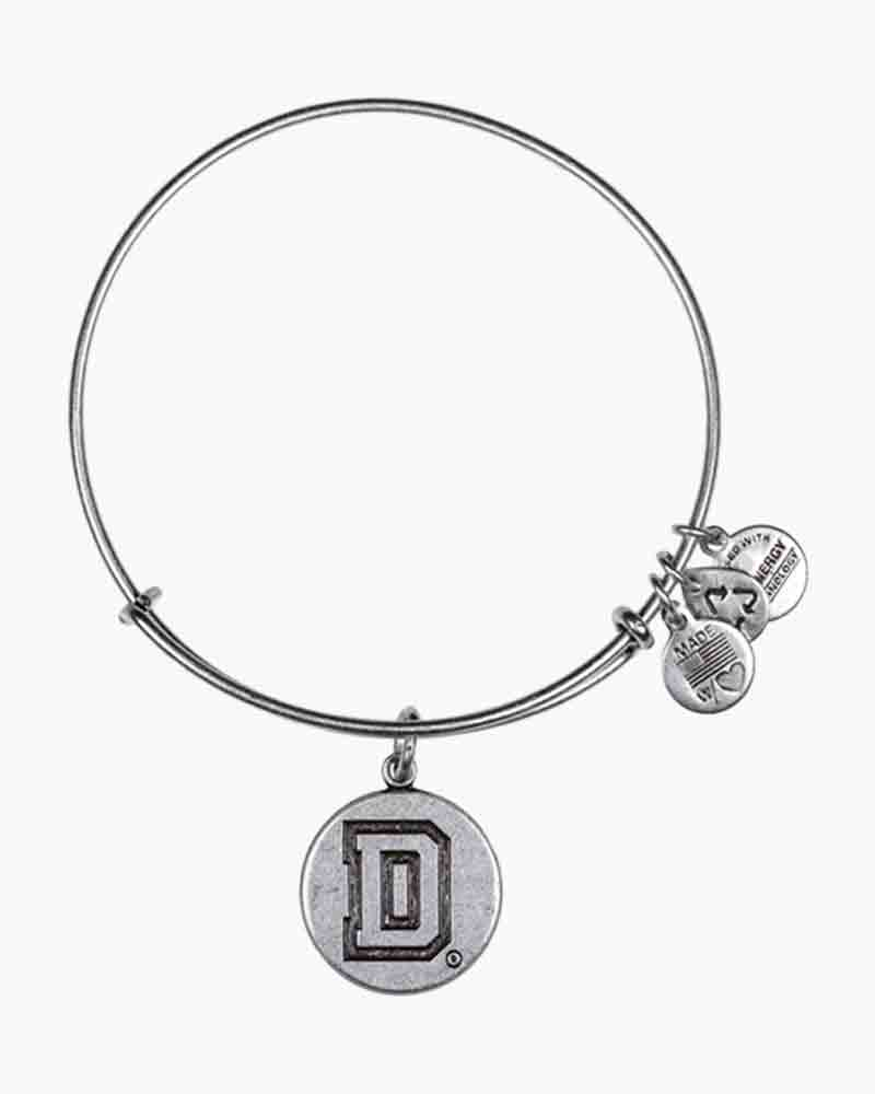 ALEX AND ANI Dartmouth College Logo Charm Bangle in Rafaelian Silver Finish