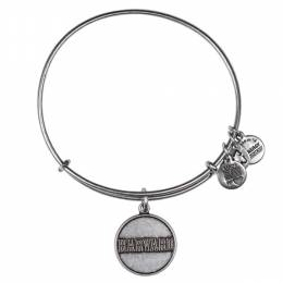Alex and Ani Harvard University Logo Charm Bangle in Rafaelian Silver Finish