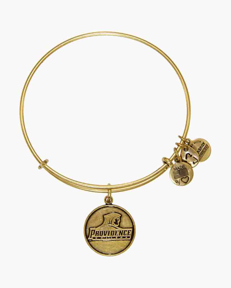 ALEX AND ANI Providence College Logo Charm Bangle in Rafaelian Gold Finish