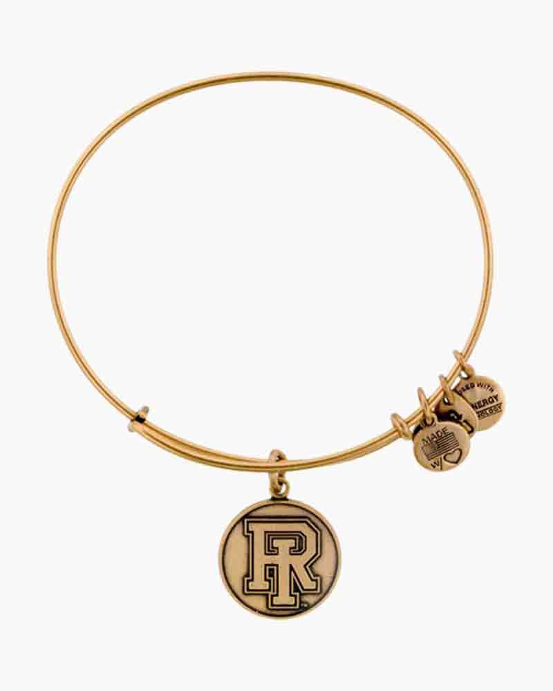 Alex and Ani The University Of Rhode Island Logo Charm Bangle in Rafaelian Gold Finish