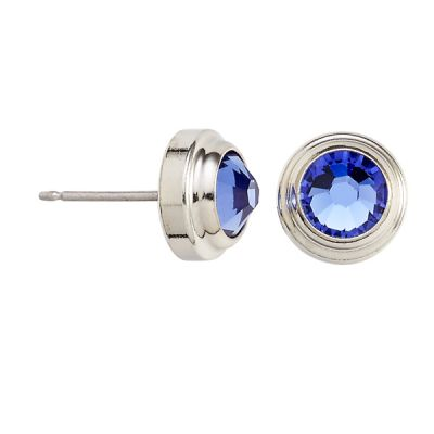Sapphire Truth Sacred Studs Post Earrings