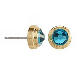 Alex and Ani Blue Zircon Harmony Sacred Studs Post Earrings