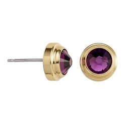 Alex and Ani Amethyst Spirituality Sacred Studs Post Earrings