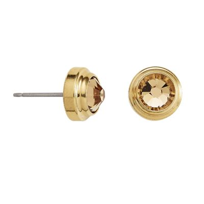 Light Topaz Clarity Sacred Studs Post Earrings