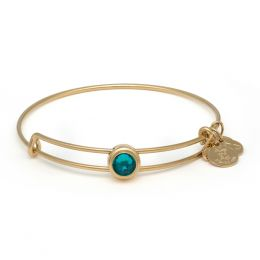 Alex and Ani Blue Zircon Harmony Sacred Studs Bangle