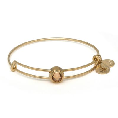 Light Topaz Clarity Sacred Studs Bangle