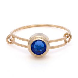 Alex and Ani Sapphire Truth Sacred Studs Ring