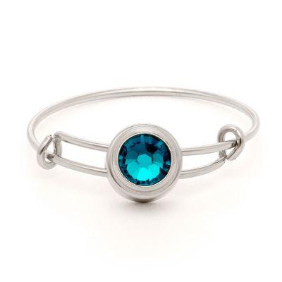 Blue Zircon Harmony Sacred Studs Ring