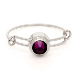 Alex and Ani Amethyst Spirituality Sacred Studs Ring