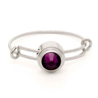 Amethyst Spirituality Sacred Studs Ring
