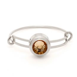 Alex and Ani Light Topaz Clarity Sacred Studs Ring