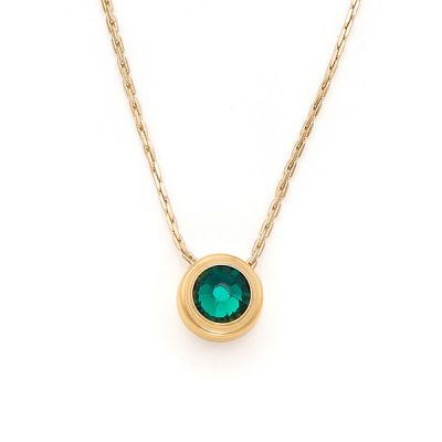 Emerald Love Sacred Studs Necklace