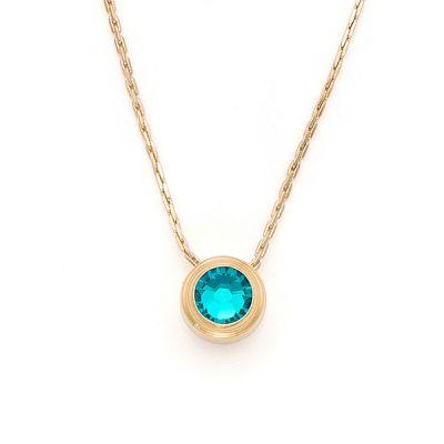 Blue Zircon Harmony Sacred Studs Necklace