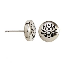 Alex and Ani Lotus Peace Petals Stud Earrings