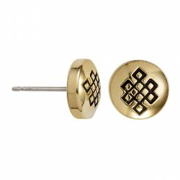 Alex and Ani Endless Knot Stud Earrings in Rafaelian Gold Finish