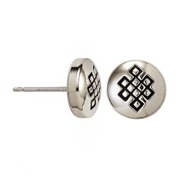 Alex and Ani Endless Knot Stud Earrings