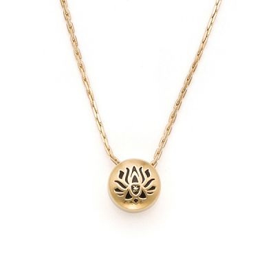 Lotus Peace Petals Charm Necklace