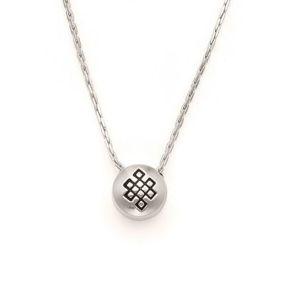 Endless Knot Charm Necklace