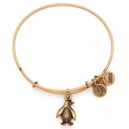 Alex and Ani Penguin Charm Bangle in Rafaelian Gold | Association of Zoos and Aquariums