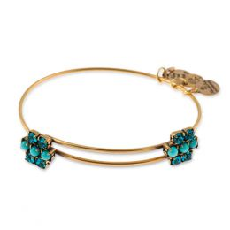 Alex and Ani Aqua Sparkler Expandable Wire Bangle