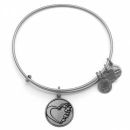 Alex and Ani Whole Heart Charm Bangle