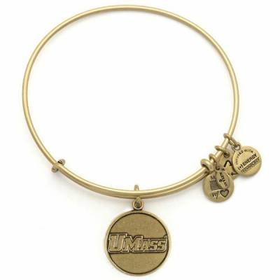 University Of Massachusetts Amherst Logo Charm Bangle