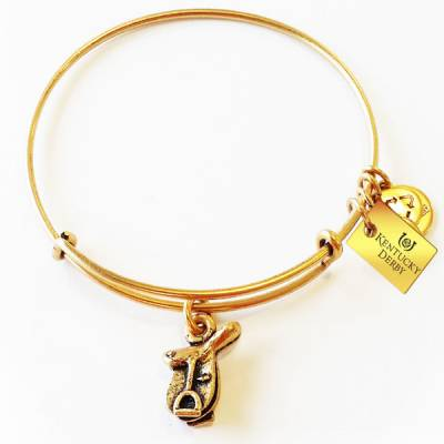 Horse Saddle Charm Bangle