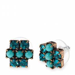 Alex and Ani Aqua Sparkler Earrings