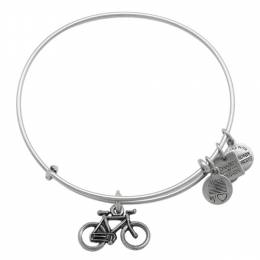 Alex and Ani Bike Expandable Wire Bangle