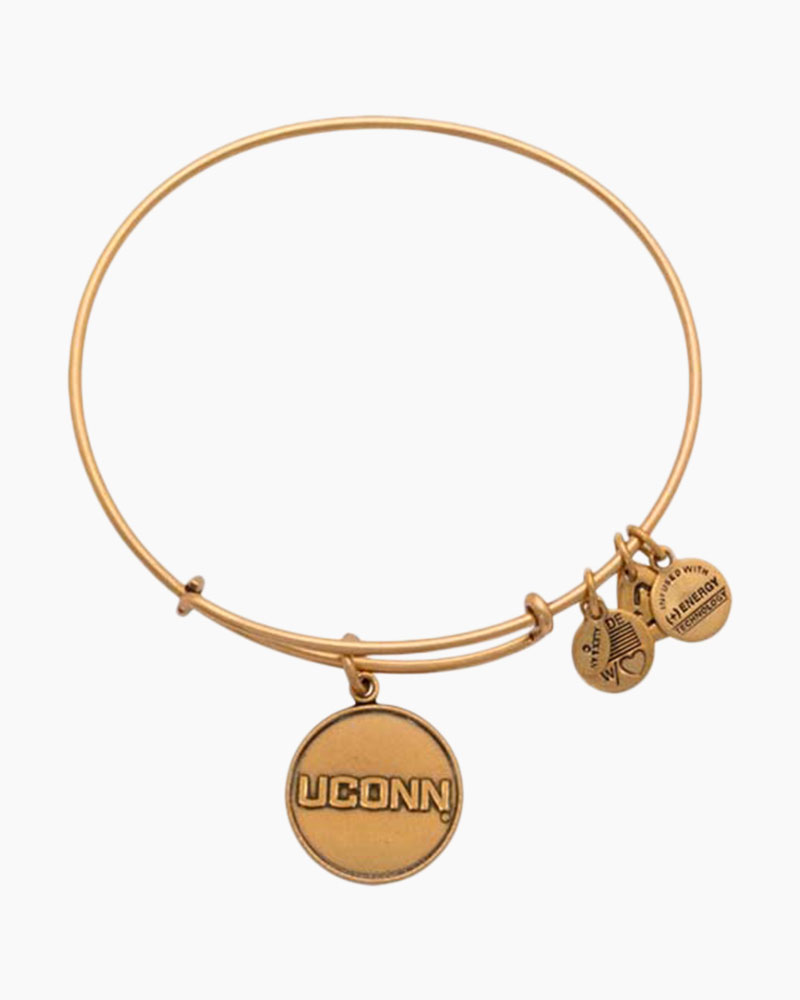 ALEX AND ANI University of Connecticut Logo Charm Bangle in Rafaelian Gold